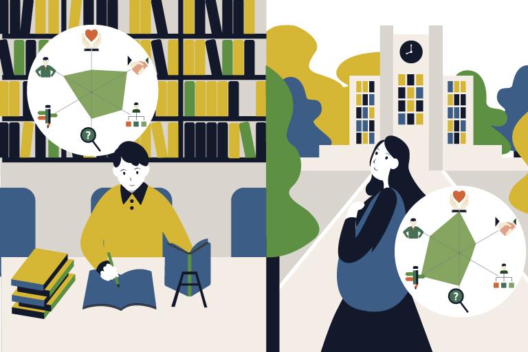 大学生活の充実度には中学高校での経験で培われた基礎力が影響してい